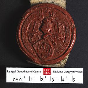 John Tuchet, 8th Baron Audley - Coat of arms of John Tuchet. 28 September 1522. NLW Bronwydd 7012