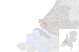 Locatie van de gemeente Brielle (gemeentegrenzen CBS 2016)