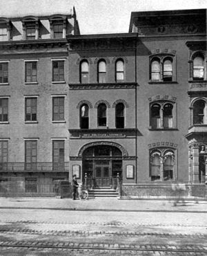 New York Free Circulating Library - The Ottendorfer Branch, 1884, the first branch designed and built for library purposes
