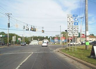 New York State Route 31 - The junction of NY 5 and NY 46 in Oneida was NY 31's eastern terminus during the 1920s.