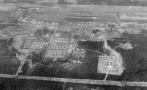 Nakhon Phanom Royal Thai Navy Base - Nakhon Phanom Royal Thai Air Force Base in the 1960s looking to the Southwest