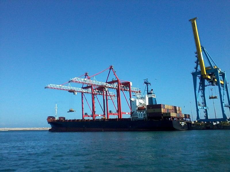 File:Navire conteneur MSC NAMIBIA II en quai au port de Casablanca.jpg