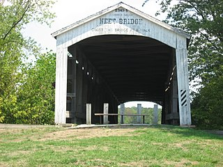 Neet Covered Bridge place in Indiana listed on National Register of Historic Places