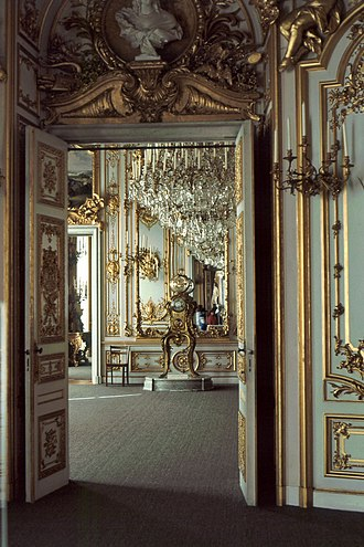 Herrenchiemsee - Ludwig's unused rococo Arbeitzimmer reflects Louis XV's Cabinet de travail at Versailles
