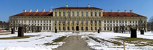 Schleissheim Palace - New Palace Schleissheim from the west during winter months