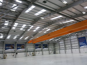 Babcock Mission Critical Services Offshore - New Aberdeen hangar interior