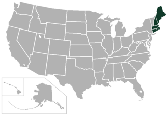 New England Conference - Image: New England Conference USA states