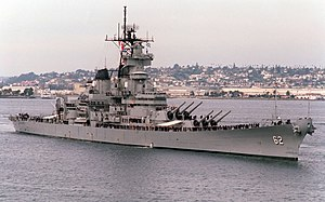 USS New Jersey under way