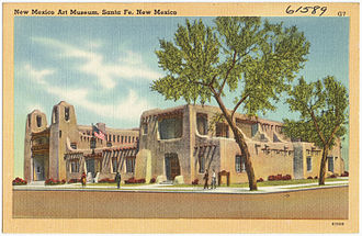 Isaac Rapp - The New Mexico Museum of Art (1917), an early example of Pueblo Revival architecture.