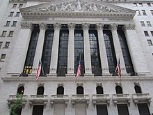The New York Stock Exchange On Wall Street In City World S Largest Per Total Market Capitalization Of Its Listed Companies