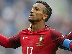 Nani - Nani playing for Portugal in 2017