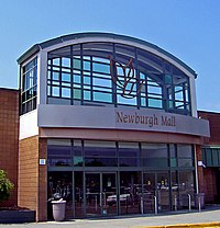 Main entrance to the newburgh mall