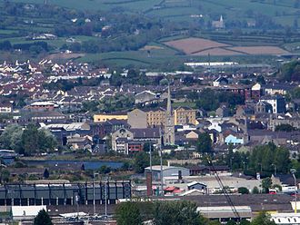 Newry - A view over Newry looking north