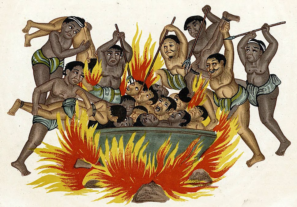 Ngaye (Naraka) in Burmese art