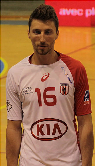 Nicolas Maréchal - On April 12, 2013 as the AS Cannes Volley-Ball player.