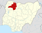 Map of Nigeria highlighting Zamfara State