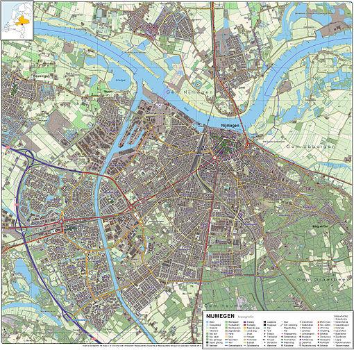 Nijmegen-topografie
