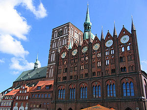 Mecklenburg-Vorpommern - Late medieval Brick Gothic architecture in Stralsund, today a World Heritage Site.