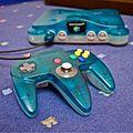 Nintendo 64 Clear Blue et sa manette.JPG