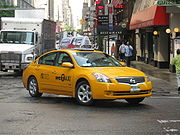 NYC yellow taxi livery