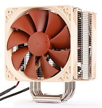 Noctua (company) - The NH-U12P SE2 CPU cooler, made of copper and aluminium and featuring four heat pipes and two NF-P12 fans