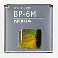 Nokia Lithium Polymer battery, BP-6M-6023.jpg