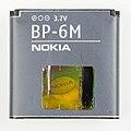 Nokia Lithium Polymer battery, BP-6M-6023.jpg