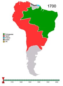 Ficheiro:Non-Native American Nations Control over South America 1700 and on.ogv