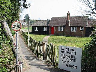 Nonington village in United Kingdom