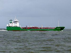 Nora Wonsild 09Apr05 Rot approaching Port of Rotterdam, Holland 09-Apr-2005.jpg