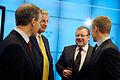 Norges, Sveriges, Islands och Finlands utrikesministrar samlade for pressmote pa Nordiska radets session i Stockholm 2009.jpg