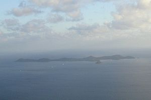 Norman Island - View of Norman Island from Sage Mountain on Tortola