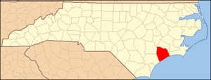 Locator Map of Onslow County, North Carolina, ...