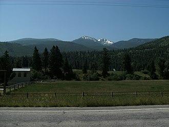 Lolo Peak - Image: Northfaceof Lolo Peakfrom Highway 12