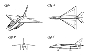 Northrop N-102 Fang - Patent images of the N-102 design