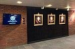 "Norway's WW2 Resistance Museum, Oslo (Hjemmefrontmuseet). Paintings of ""Kings of Liberation"" Harald V, Haakon VII, Olav V by Ross Kolby 2015. Photo 2017-11-30 d.jpg"