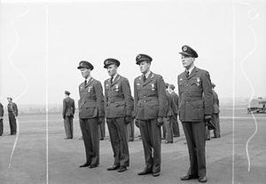Arne Austeen - Arne Austeen (2nd from left) was awarded the Distinguished Flying Cross together with Kaj Birksted, Werner Christie and Nils Jørstad