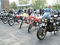 Nostalgia inducing motorbikes awaiting the start of the 2009 Havant Mayor's Rally (8) - geograph.org.uk - 1259922.jpg