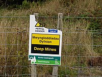 Notice at Bryn-Eglwys Quarry - geograph.org.uk - 229889.jpg
