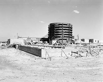 Philip Baxter - Nuclear reactor at Lucas Heights under construction