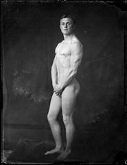 Nude portrait of Mr E H Garland, 1916. Reference Number- 1-1-013896-G.jpg