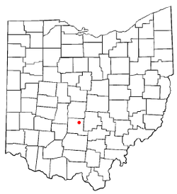 Location of Ashville, Ohio