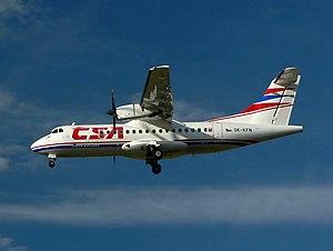 チェコ航空のATR 42 チェコ航空のATR 42 用途:旅客機 製造者:ATR 運用者 ATR
