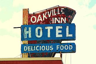 Oakville, Ontario - Oakville Inn Hotel sign