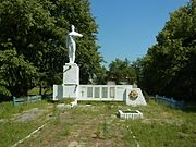 Obenyzhi Turiyskyi Volynska-monument to the countryman-general view.jpg