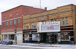 Apollo Theatre (Oberlin, Ohio) - The Apollo Theatre undergoing renovation in 2008.