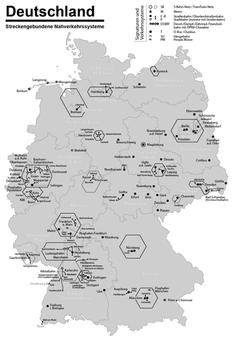 Rapid transit in Germany - U-Bahn, light rail and tramway systems in Germany