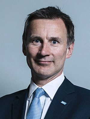 Jeremy Hunt - Image: Official portrait of Mr Jeremy Hunt crop 2