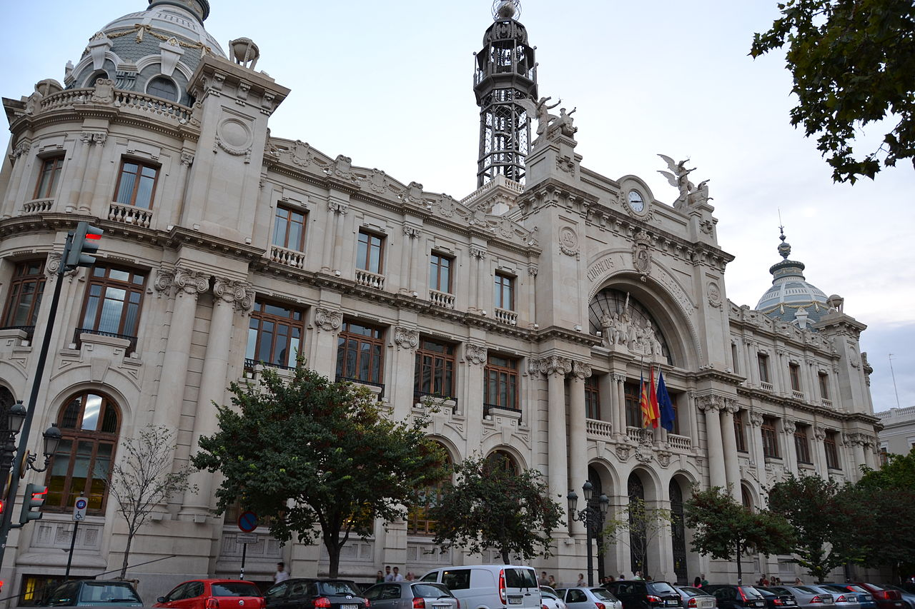 File oficina central de correos de valencia jpg for Oficina central correos madrid