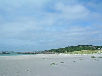 Hå - Sandy beaches at Ogna, in the southern part of the municipality.